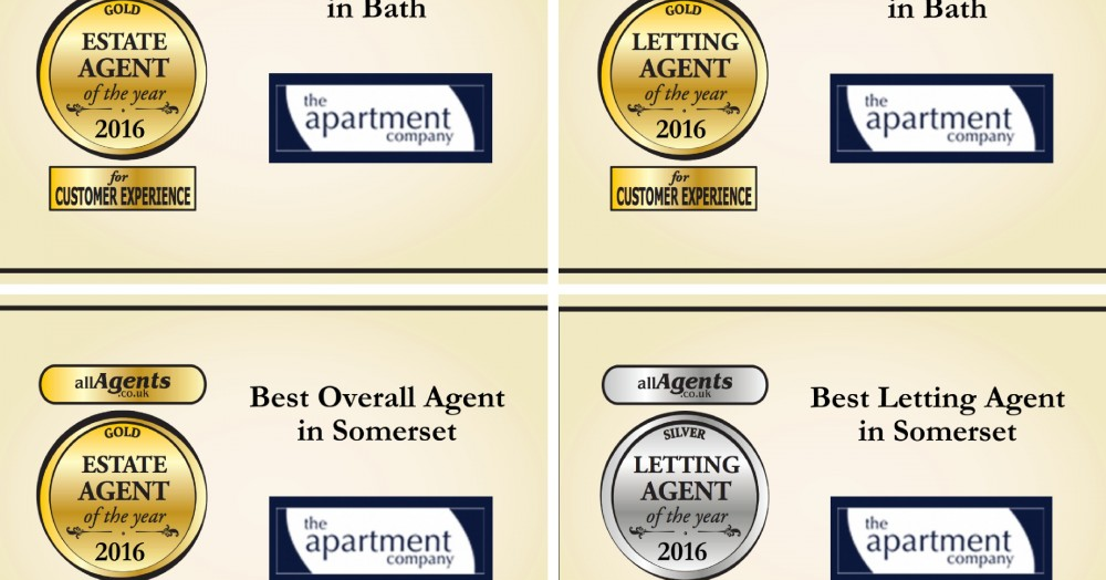 Triple gold for The Apartment Company in the allAgents awards 2016