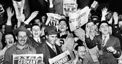 What's the schedule of VE Day events today?