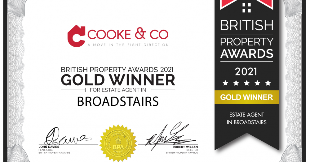 Cooke & Co win British Property Awards again in Broadstairs