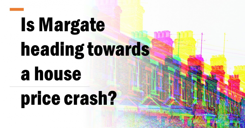 Is Margate Heading Towards a House Price Crash?  Margate house prices dropped by 1.3% last month, ac