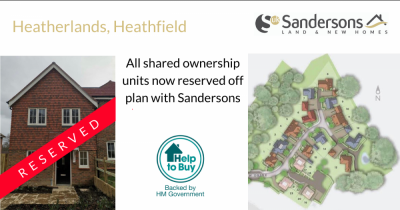 Shared Ownership units at Heatherlands, Heathfield now reserved!