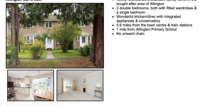 Just listed: 3 bed home in Allington with no onward chain