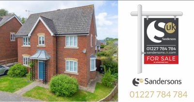 3 bed detached home with garage in idyllic village near Canterbury